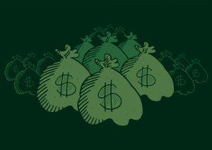 Many hidden money bags
